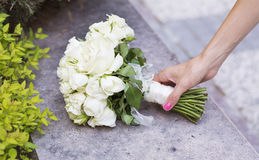 Wedding Bouquet with white roses Stock Photography