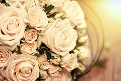 Wedding bouquet of white roses Royalty Free Stock Photo