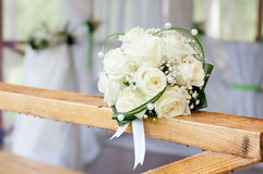 Wedding Bouquet with white roses Royalty Free Stock Photography
