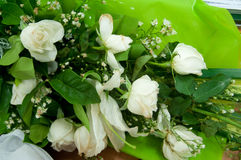 Wedding bouquet of white roses Royalty Free Stock Image