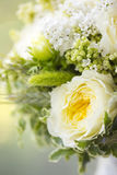 Wedding bouquet of white and yellow flowers Stock Photo