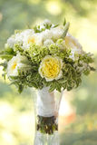 Wedding bouquet of white and yellow flowers Royalty Free Stock Images