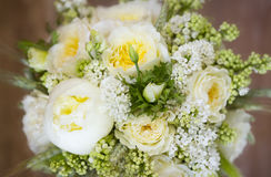 Wedding bouquet of white and yellow flowers Stock Photography