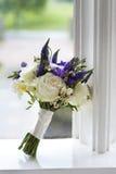 Wedding bouquet window Stock Photography