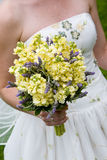 Wedding bouquet in yellow and purple Stock Photography