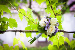 Wedding bouquet with yellow roses Stock Images