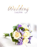 Wedding bouquet with yellow roses Royalty Free Stock Photography