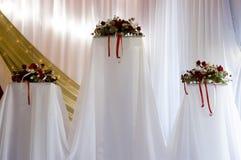 Wedding Bouquets. Bouquet arrangement at a wedding Stock Images