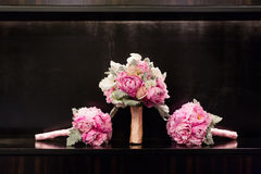 Wedding bouquets. Isolated on a black background stock photography