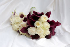 Wedding bouquets purple and white colours Stock Photography