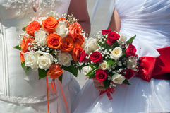 Wedding bouquets of roses Stock Images
