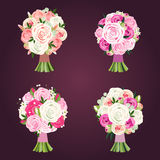 Wedding bouquets royalty free illustration