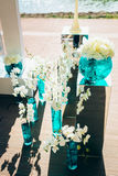 Wedding bouquets of white peon and orchid flowers Stock Photography