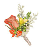 Wedding boutonniere. Stock Photography