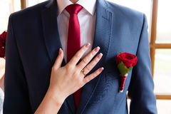Wedding boutonniere. Stock Images