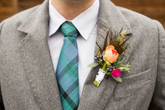 Wedding boutonniere Stock Images