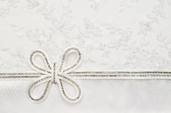 Wedding bow on lace Royalty Free Stock Photos