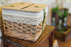 Wedding box basket Stock Photos