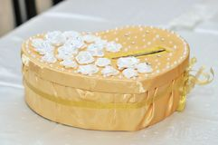 Wedding box for gifts and money. Wedding box for the gifts and money royalty free stock photography