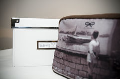 Wedding box with handbag Royalty Free Stock Photos