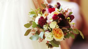 Wedding Brautblumenstrauß stock video