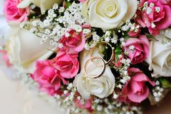 Wedding bridal bouquet closeup Stock Image