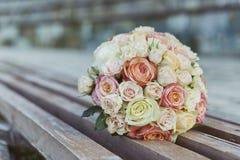 Wedding. Bridal bouquet of rose flowers Stock Photo