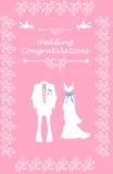 Wedding Bridal card with couple Royalty Free Stock Photos