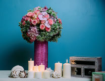 Wedding bridal centerpiece Stock Photography