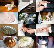 Wedding and bridal details Royalty Free Stock Image