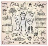 Wedding bridal graphic set. Royalty Free Stock Photography