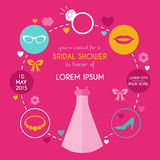Wedding Bridal Shower Card Stock Image