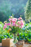 Wedding, Bridal shower flowers. An Outdoor Bridal Shower Background Filled with Love and Laughter Royalty Free Stock Photography
