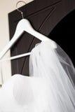 Wedding bridal veil royalty free stock photo