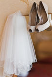Wedding bridal veil. Wedding bridal dress white veil Royalty Free Stock Photo