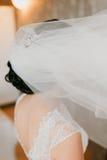Wedding bridal veil Stock Photography