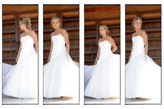 A Wedding Bride. A Young bride on her wedding day, multiple images in one royalty free stock photos