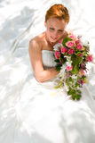 Wedding - bride with bouquet Stock Photography