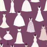 Wedding bride dress vector seamless pattern Royalty Free Stock Photo