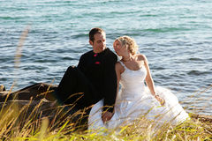 Wedding - Bride and Groom Stock Photography