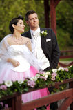 Wedding: Bride and Groom Royalty Free Stock Photography