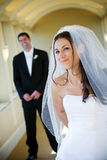 Wedding bride and groom stock images