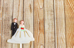 Wedding bride and groom couple doll Stock Photo