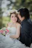 Wedding. Bride and groom image I'm in love Stock Photo