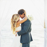 Wedding, Bride and Groom Just Married in Love Stock Photography