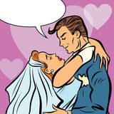 Wedding bride and groom love heart hug Royalty Free Stock Image
