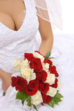 Wedding Bride Holding Flowers Stock Images