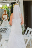 Wedding Bride Mirror Royalty Free Stock Image