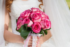 Wedding bride's bouquet Royalty Free Stock Images