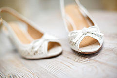 Wedding Bride's Shoes Stock Images